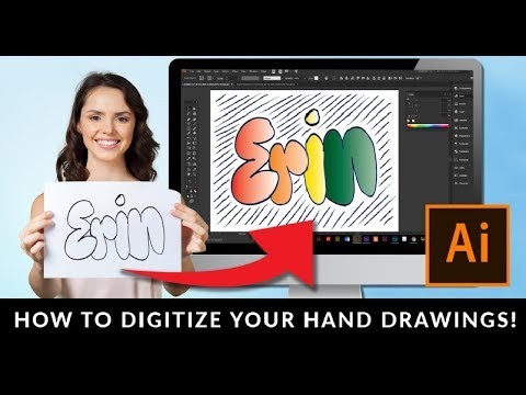 How To Vectorize A Hand Drawing In Adobe Illustrator Using Image Trace