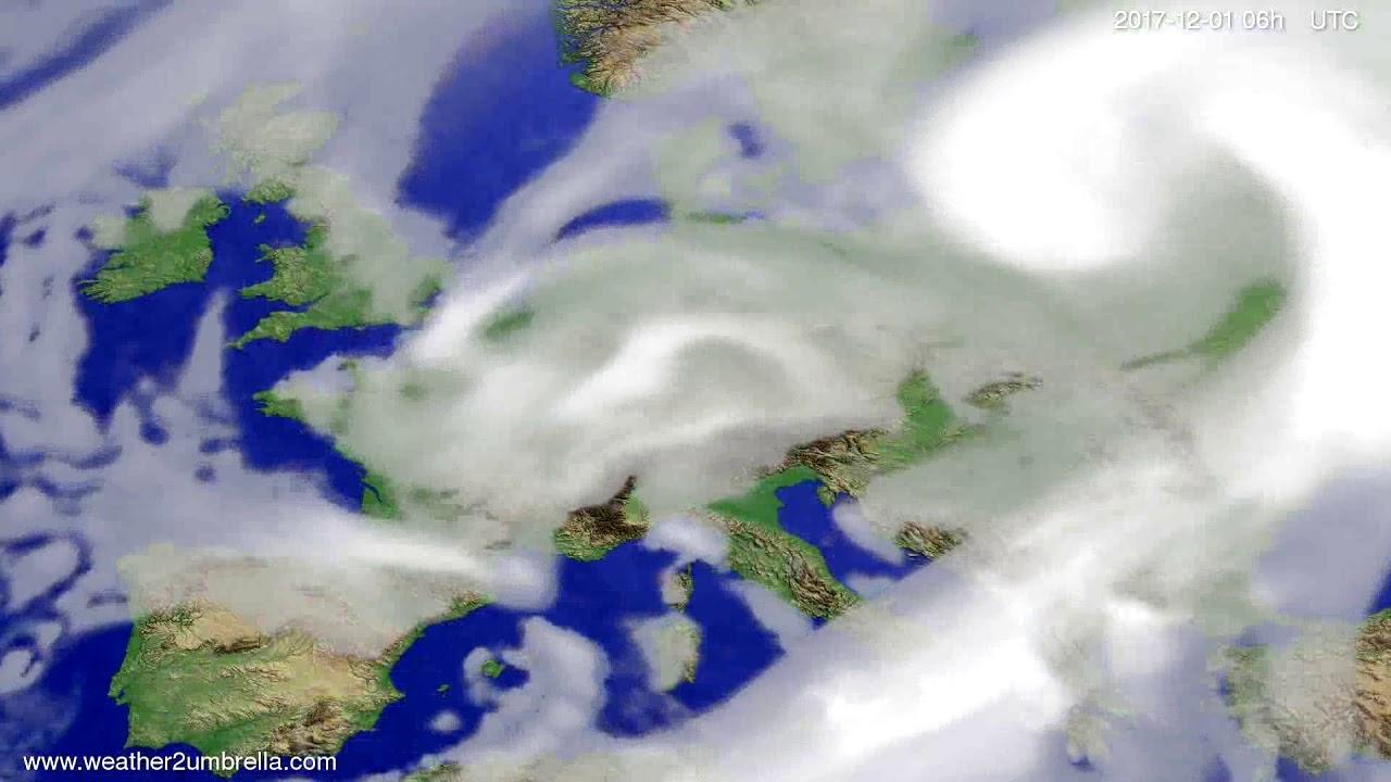 Cloud forecast Europe 2017-11-27