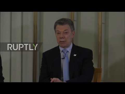 Predsednik Kolumbije primio Nobelovu nagradu za mir (VIDEO)