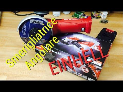 smerigliatrice angolare 18 volt  einhell recensione review angle grinder