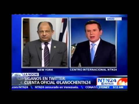Presidente de Costa Rica cuestiona en NTN24 el papel del Consejo de Seguridad de la ONU