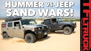 What's Better in the Sand Dunes: Hummer vs Jeep TFLtruck Celebration by The Fast Lane Truck
