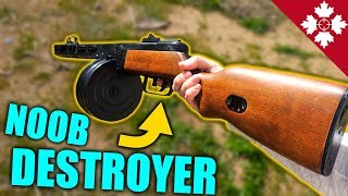 DESTROYING airsoft NOOBS with WW2 PPSH!