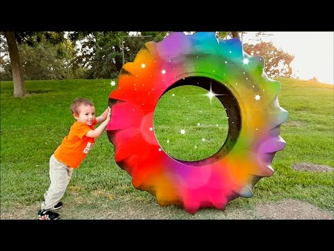 Video Learn Colors with Huge Car Tire for Toddlers and Babies | Outdoor Fun with Magic Colours download in MP3, 3GP, MP4, WEBM, AVI, FLV January 2017
