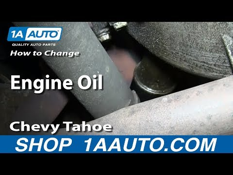 How To Do a Engine Oil Change 1995-99 Chevy Tahoe GMC Yukon