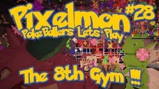 Pixelmon Server Minecraft Pokemon Mod Pokeballers Lets Play! Ep 28 - The 8th Gym Battle!