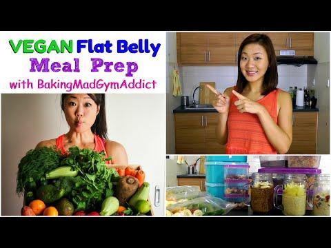 Full VEGAN Flat Belly Meal Prep (with BakingMadGymAddict)