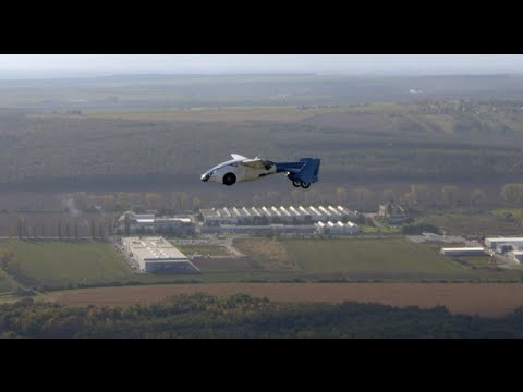 at - AeroMobil 3.0, the world's first production-ready 'flying car,' soared the skies above Airport Nitra in Slovakia on the test and promo flight. It is capable of fitting into standard parking...