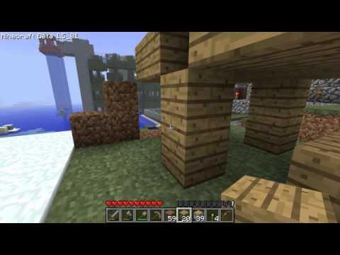 【Minecraft】同時に開く両開きのドア作成【マインクラフト】