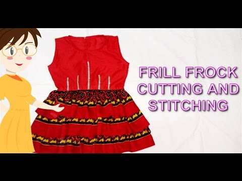 Video Frill Frock Cutting And Stitching | DIY - Tailoring With Usha download in MP3, 3GP, MP4, WEBM, AVI, FLV January 2017