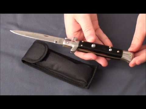 "Epic Stiletto Knife Automatic Switchblade w/ Maroon Scales (4.2"" Bayo)"