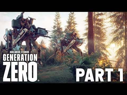 GENERATION ZERO Early Beta Gameplay Walkthrough Part 1 - NEW CO-OP GAME