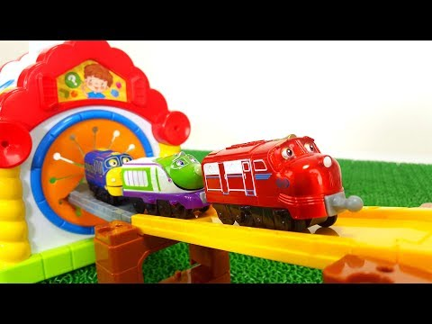 Chuggington, Wilson, Brewster, Koko, Dunbar, Slide into the Tunnel Fun Working Cave Spo Spo