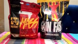 Mutant Mass Gainer vs Universal Nutrition Gain Fast