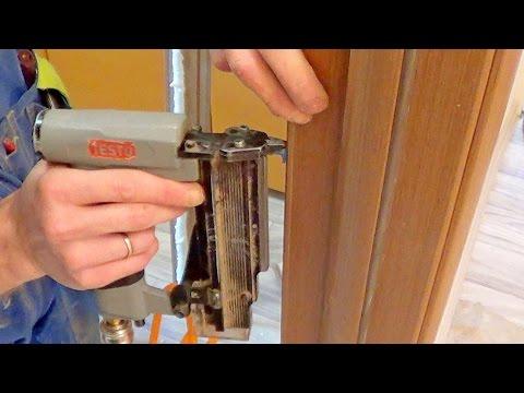 Крепление межкомнатных дверей видео смотреть