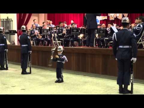 [超萌]空軍儀隊與國慶小禮兵 Ryan 搭檔演出 4歲 honor guard 空軍音樂會