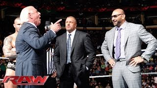 Ric Flair addresses Evolution and The Shield Raw April 28 2014