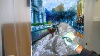 """A Horse Buggy on Büyükada Island"" - Time Lapse Oil Painting Demo"