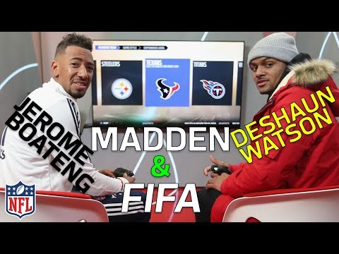 Deshaun Watson vs. Jerome Boateng in Madden and FIFA | NFL Highlights (видео)