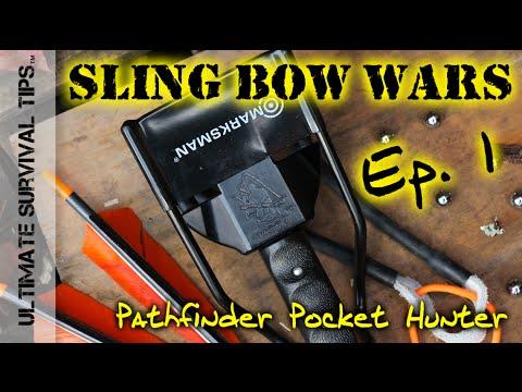 hunter - Is Dave Canterbury's Pathfinder Pocket Hunter SlingShot / Sling Bow THE Best SlingShot for Survival Kit / Bug Out Bag? 3 Contestant Dudes Shoot It Out to Discover the Best Survival Sling Bow...