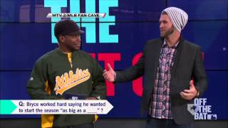 Video Bryce Harper stops by the MLB Fan Cave in New York City MP3, 3GP, MP4, WEBM, AVI, FLV Agustus 2018