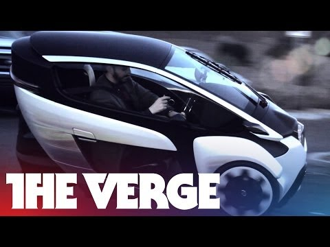 TOYOTA CONCEPT CAR - The Toyota i-Road looks less like a car and more like a transport pod beamed in from the future. Naturally, when the company asked us to drive one in Las Veg...