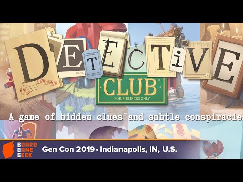 Detective Club game overview at Gen Con 2019