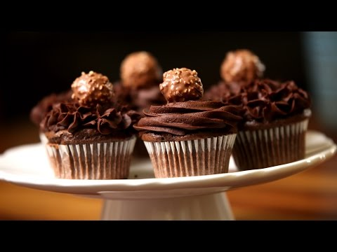 Chocolate Cream Cupcake | Ferrero Rocher Nutella Icing | Divine Taste With Anushruti | Rajshri Food