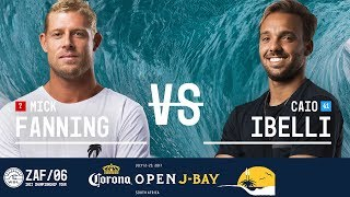 Mick Fanning faces off against Caio Ibelli in Round Three, Heat 5 at the 2017 Corona Open J-Bay. #WSL #jbay Subscribe to the WSL for more action: ...