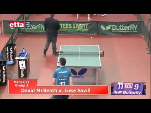 Nationals - U21 Men Group 2 - David McBeath v Luke Savill