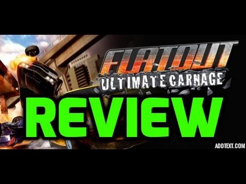 flatout ultimate carnage xbox 360 test