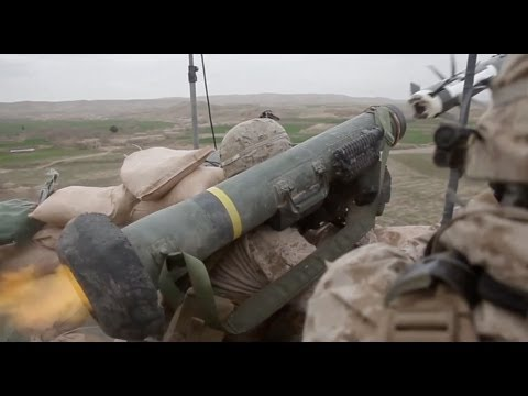 missile - 2/27/2013 U.S. Marines with 2nd Battalion, 7th Marines, Regimental Combat Team 7, provide fire support with M240 machine guns and Javelin anti-tank missile (...