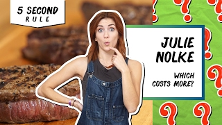 Challenge: Which is More Expensive? | 5 Second Rule with Julie Nolke by Tastemade