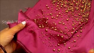 Video Easy making of Beads blouse || Latest Technique for Fashion Designers| Aari / maggam work blouse download in MP3, 3GP, MP4, WEBM, AVI, FLV January 2017