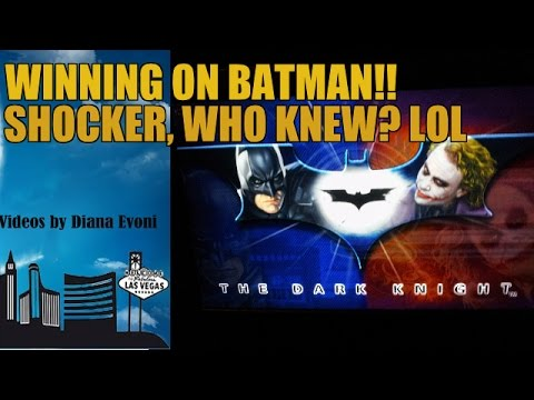 BATMAN DARK KNIGHT SLOT MACHINE-WINNING LIVE PLAY!