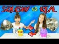SQUISHY FOOD VS REAL FOOD SWITCH UP CHALLENGE!