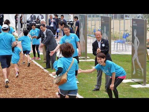 アシックス×神戸市ランニングコース完成式典