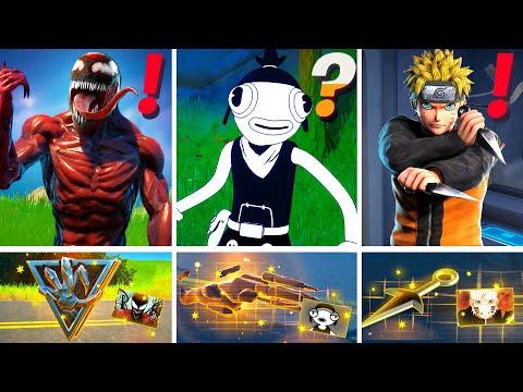 NEW Season 8 ALL BOSSES, MYTHIC WEAPONS, KEYCARD VAULT LOCATIONS! (Boss Carnage, Toona Fish, Naruto)