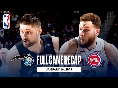 Video: Full Game Recap: Magic vs Pistons | Down To The Wire Action In Detroit