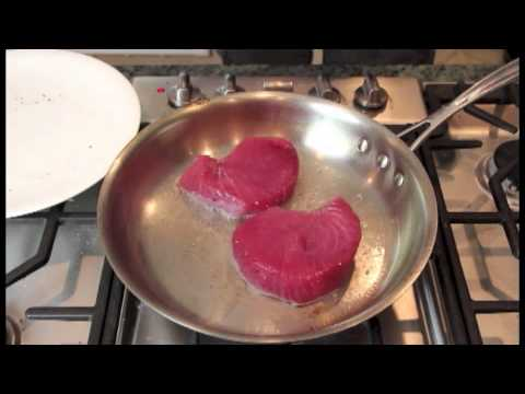 Searing Ahi Tuna Steaks