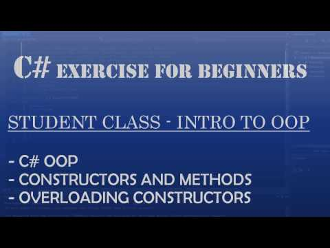 C# Learn To Program – Student Class (C# Intro to OOP)
