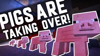 WHEN PIGS TAKE OVER! | Minecraft Custom Map