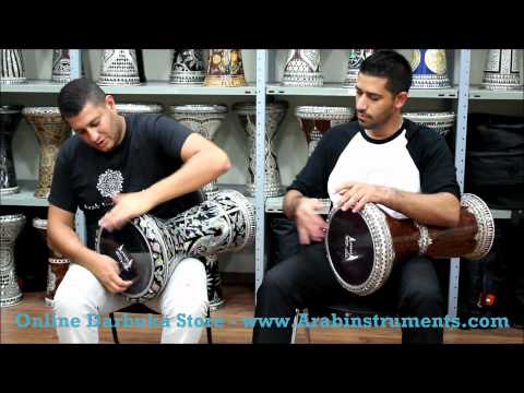 darbuka - Please visit our online doumbek shop: http://www.arabinstruments.com/112730/Clay-Dohola-Doumbek-Darbuka Darbuka Players: Bari Yeheskel and Tamir Zaharur.
