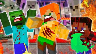 DEATH AT STEVE'S HAUNTED HOTEL - MINECRAFT STEVE AND ALEX [224]