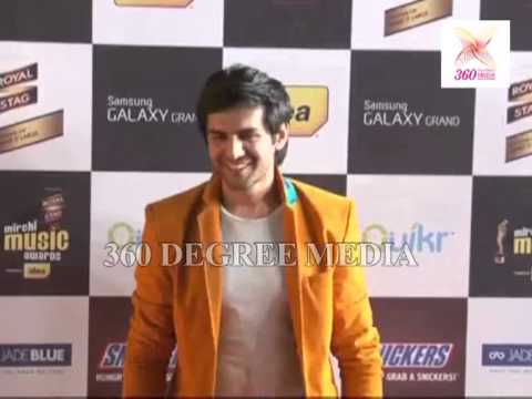 Royal Stag Mirchi Music Awards Red Carpet- Actor Kartik Tiwari poses for media