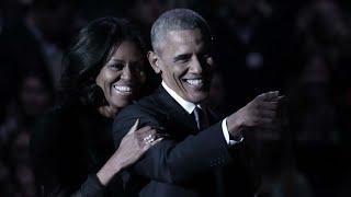 Barack Obama Farewell Address - Michelle, Malia, Vice President Joe Biden