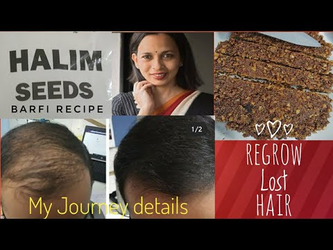 Halim / Aliv Seeds - Regrow Your Lost Hair By eating it. Easy Barfi / Laddoo Recipe in 10 Mins.