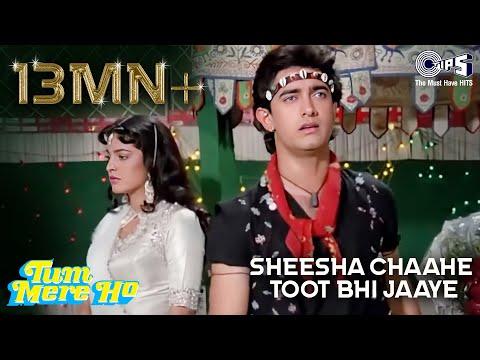 Video Sheesha Chahe Toot Bhi Jaye - Tum Mere Ho -  Aamir Khan & Juhi Chawla - Full Song download in MP3, 3GP, MP4, WEBM, AVI, FLV January 2017