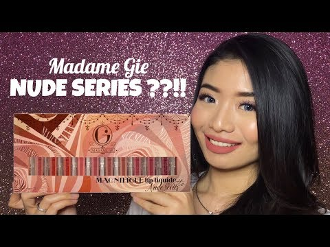 Swatch And Review Madame Gie Nude Series || Lip Cream Murah Banget
