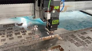 Metal fiber laser cutting machine youtube video